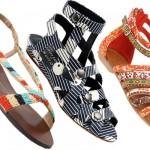 2012 modası rengarenk sandaletler