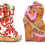 2012 son moda renkli topuklu ayakkabılar