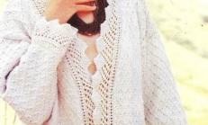 Bayan Ajurlu Örgü Hırka Modeli