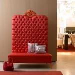 Düğmeli Kırmızı  Büyük Dekoratif  Koltuk