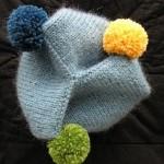 açık mavi bere sarı mavi yeşil ponpon örnekleri