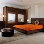 ağaç kaplama modern klasik yatak odası modeli