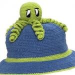 ahtapotlu örgü bebek şapka modelleri