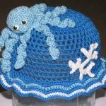 ahtapotlu örgü bebek şapkası