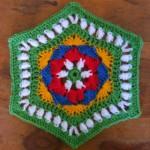 altıgen battaniye motifi
