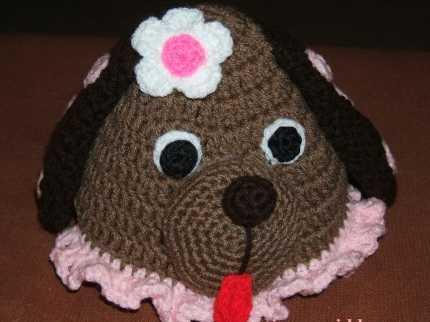 ayıcık modelli bebek şapka örneği
