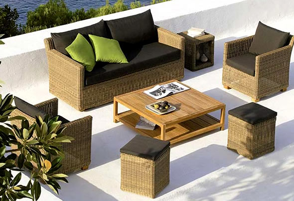 bahçe mobilyası koltuk takımı modeli