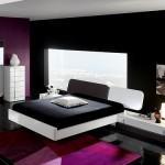 beyaz siyah kombin yatak odası fikirleri