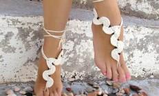 Örgü Sandalet ve Ayak Takıları