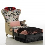 dekoratif tekli koltuk ve pufu