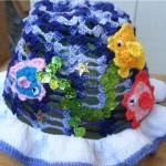 deniz balıklar bebek şapka modeli