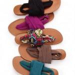 en güzel kumaş üstü sandalet modası ayakkabılar