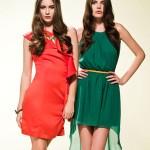 en trend renkli elbise modelleri