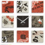 farklı genç odalarına modern dekoratif saatler