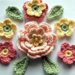 güllü ve yapraklı süsleme motifleri