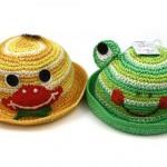 harika yeni model örgü bebek şapkaları