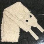 hayvan figürlü örgü bebek atkı örneği
