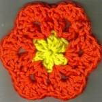 iki renk çiçek motifi