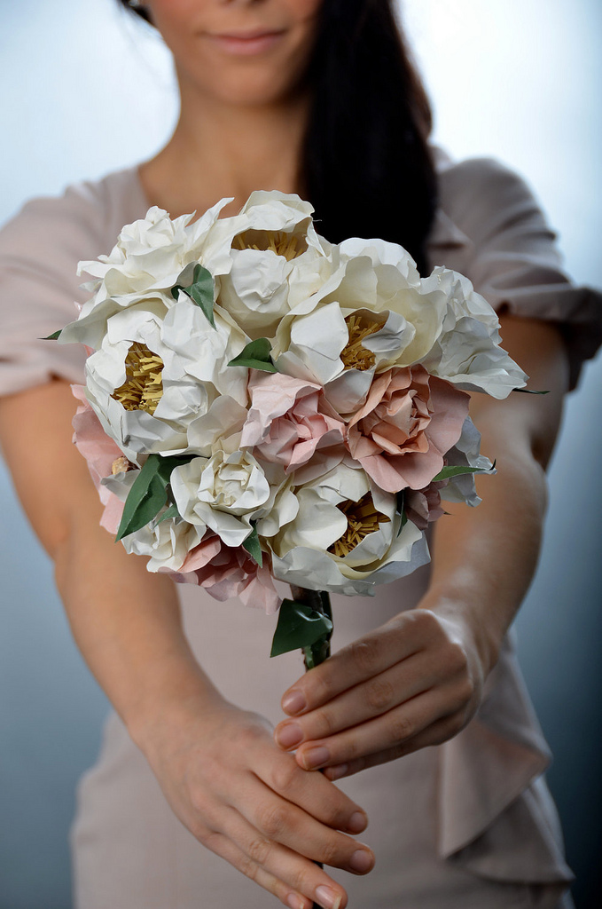 kağıttan yaratıcı çiçek el becerileri