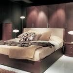 kahve ağaç kaplama yatak odası dizaynları