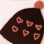 kahverengi pembe ponponlu bere modeli örneği