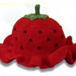 karpuz örgü bebek şapkası