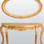 klasik altın varaklı dresuar dizaynı