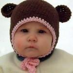 kulaklıklı sevimli bebek şapkaları