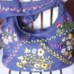 kurdele nakışı ile çanta süsleme