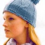 mavi ponponlu bere modeli örneği