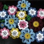 merserize çiçek motifleri