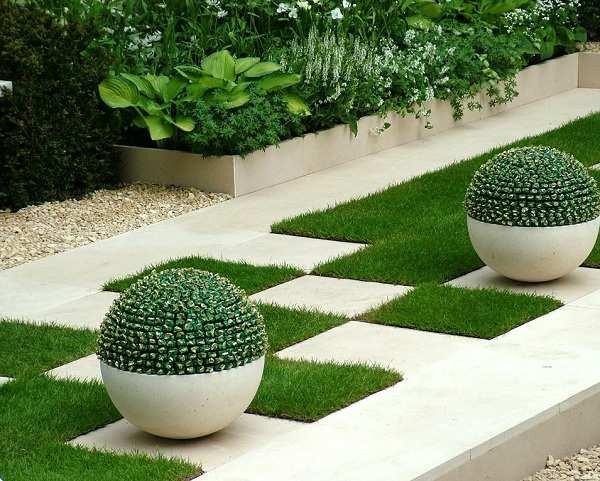 Modern bahçe aydınlatma
