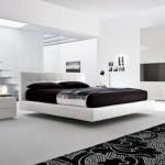 modern beyaz lake yatak odası