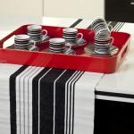 modern kırmızı çay tepsisi modelleri