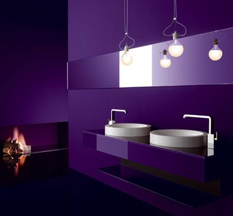Bathroom ideas purple