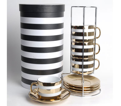 mudo çok şık kahve fincan takım modeli