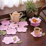 mutfaklarda dekoratif fincan altlığı ev eşyaları