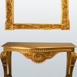 oymalı altın yaldızlı dresuar modeli