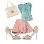 pastel rugan bantlı ayakkabı kombin