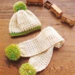 ponponlu örgü bebek bere atkı modelleri