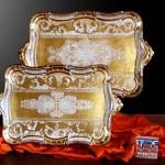 porselen görünümlü ahşap çay tepsi modelleri