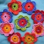 rengarenk çiçek morifleri
