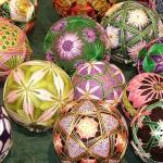 renk renk dekoratif yaratıcı el becerisi toplar