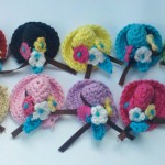 tığ işi mini şapka motifleri