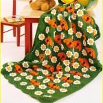 tığ işi punch bebek örgü battaniyesi