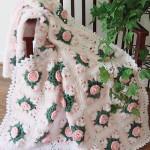 tığ ile örülmüş harika bebek battaniyesi
