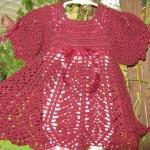 tığdan sevimli bebek elbise örnekleri