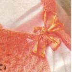 turuncı örgü kurdeleli yelek örneği