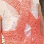turuncu arkası çapraz bluz