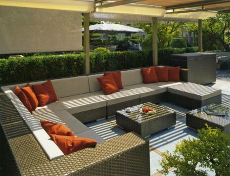 uzun bahçe mobilya takımı